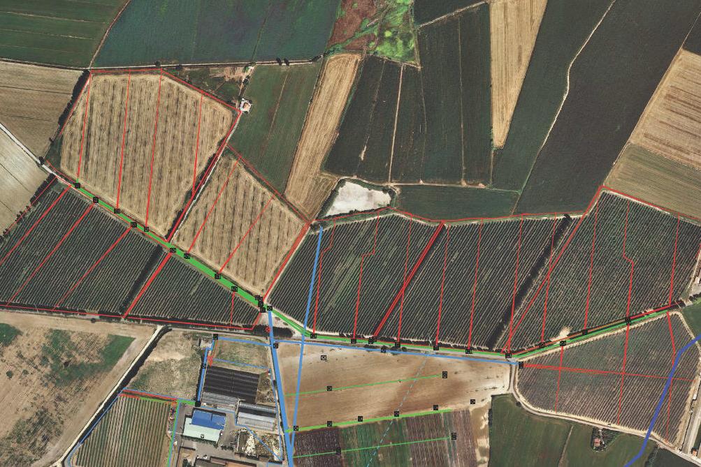 SIG de la infraestructura de reg de la finca Sant Joan de Déu a Almacelles